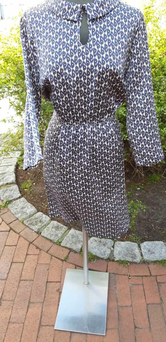 """Kleid """"Benetton"""" blau-weiß-gemustert, Gr.M, EUR 35,00"""